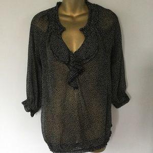 Motherhood maternity ruffle blouse size M